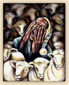 insomnia painting, sheep painting, funny painting, humorous painting, art, funny art, hiroko, hiroko sakai, original oil painting, cool art, cool painting