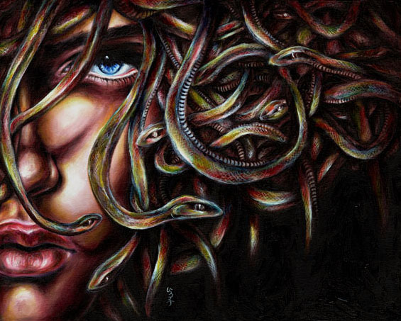 Original painting details medusa no 2 for Art for sale on line