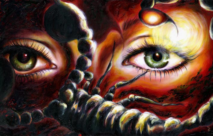 ... painting, sexy painting, eye, passion, love, Scorpio, surrealism art